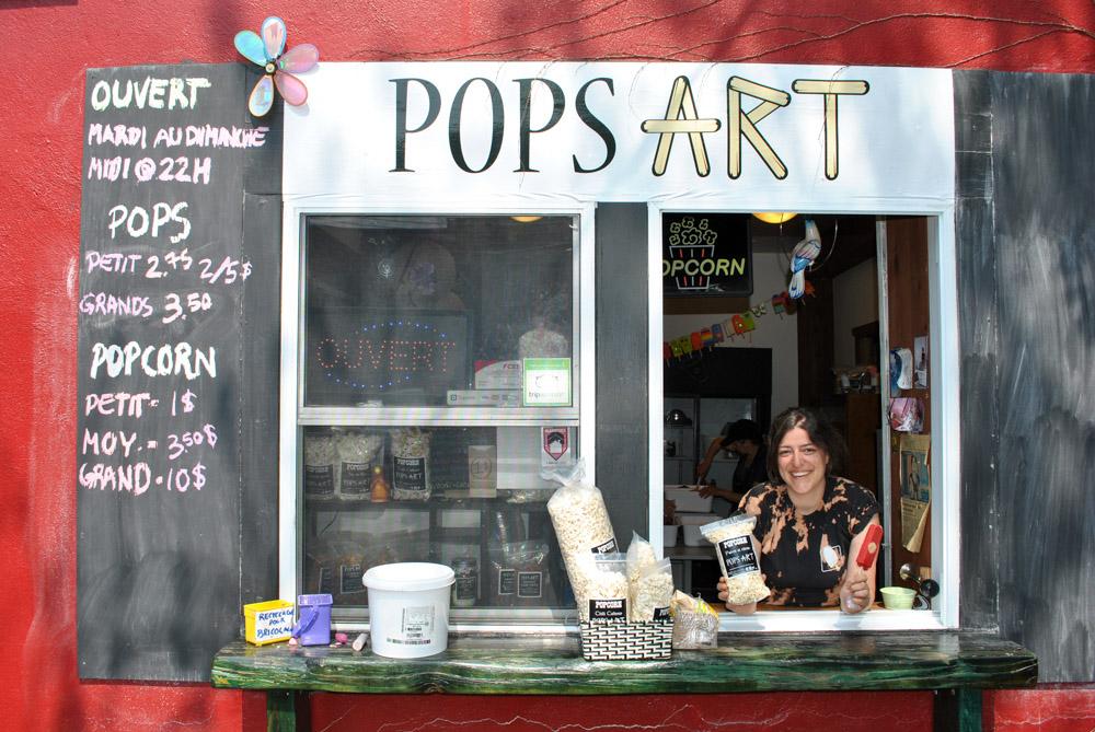 Pops-Art, Pops-Art : des pops et du popcorn!