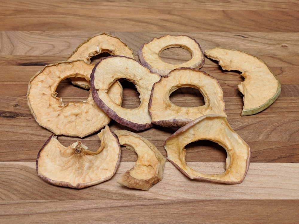 Organic dehydrated apple rings