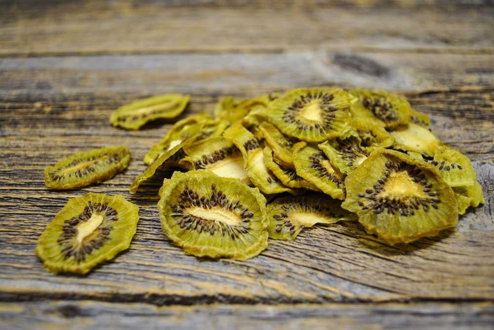 Custom processing dried kiwis