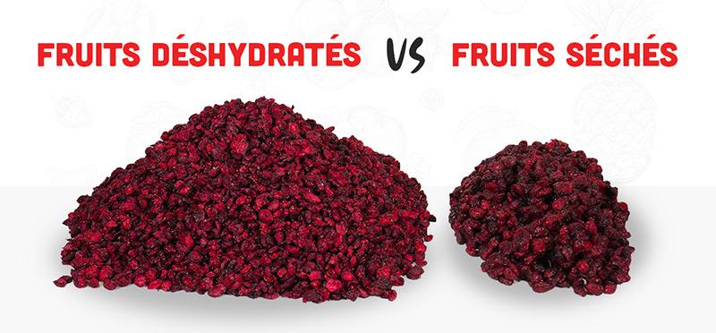 Fruits séchés versus fruits déshydratés